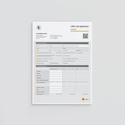 LiKEA Job Application Form Template
