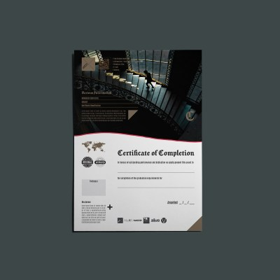 XeMOR Certificate of Completion Template