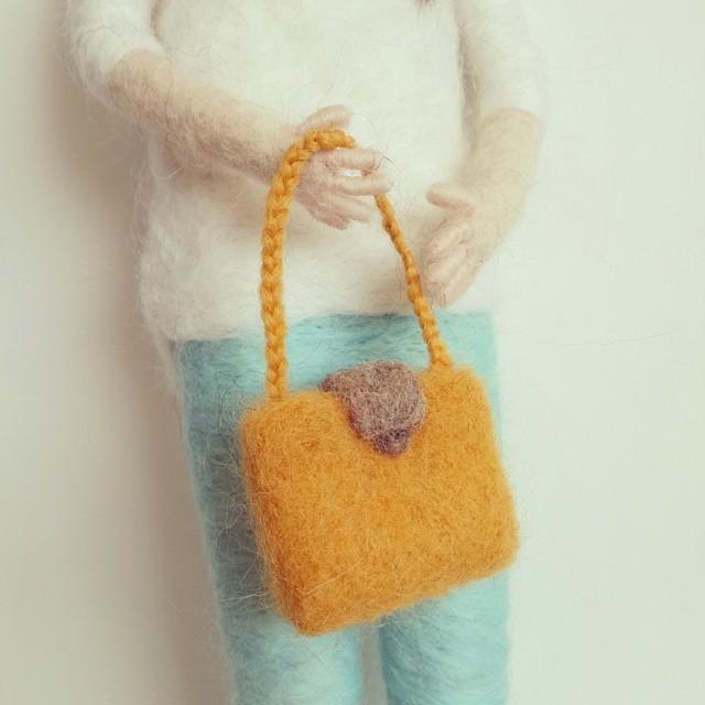 keçe minyatür çanta