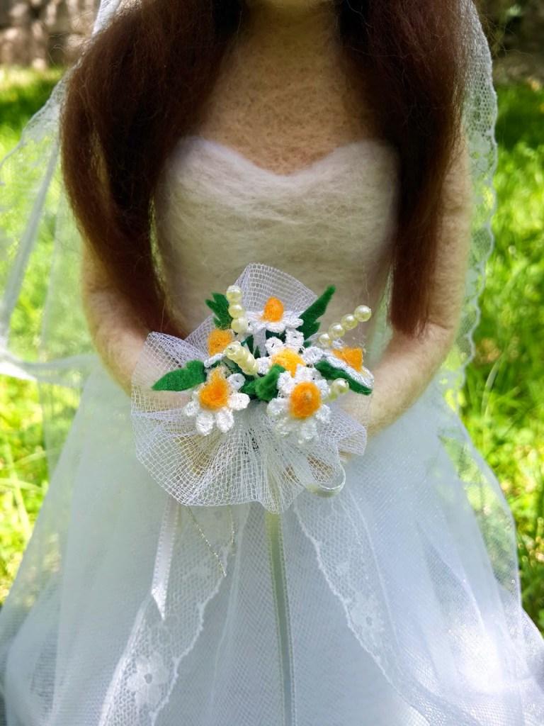 gelin çiçeği el yapımı