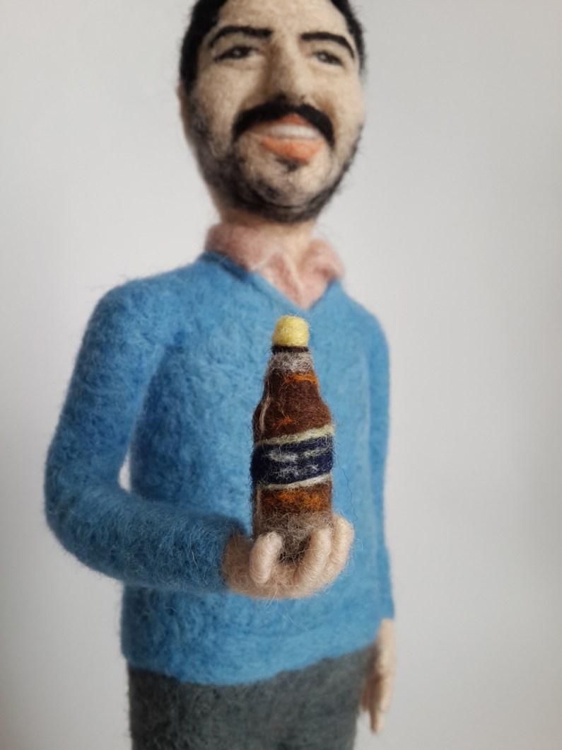 blue label viski keçe iğneleme