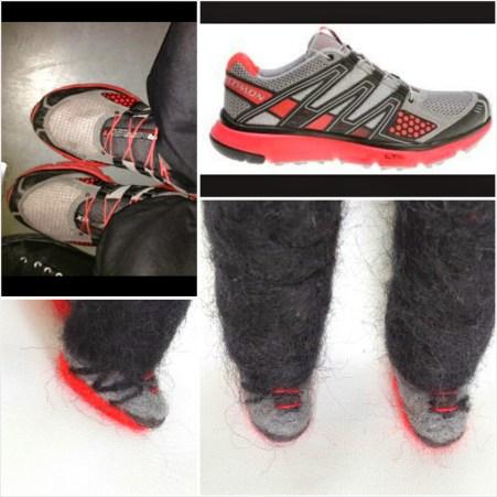keçe iğneleme spor ayakkabısı
