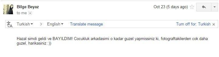 Teşekkürler Bilge hanım! :)