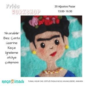 Çantada Frida Keçe İğneleme Workshop