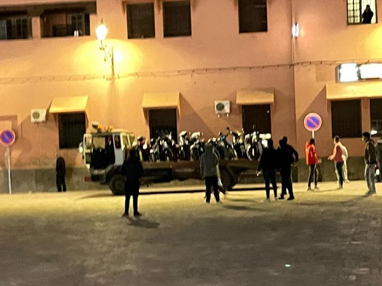 """عناصر الدئرة الأمنية الخامسة تنهي احتلال الدراجات النارية لممر """"البرانس"""""""