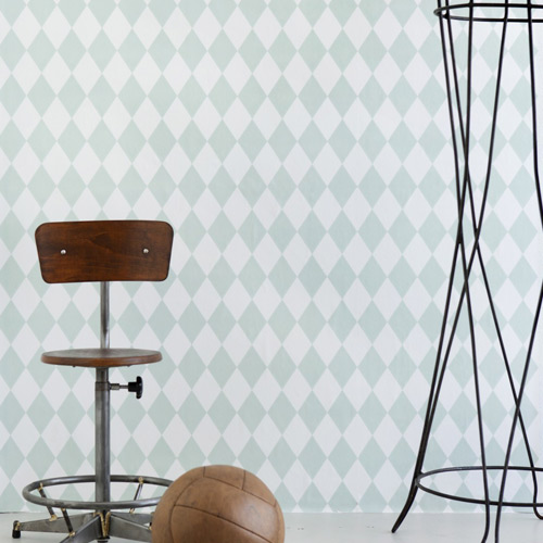 Ferm Living Behang Harlequin Mint