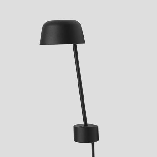 Muuto Lean Black Wandlamp