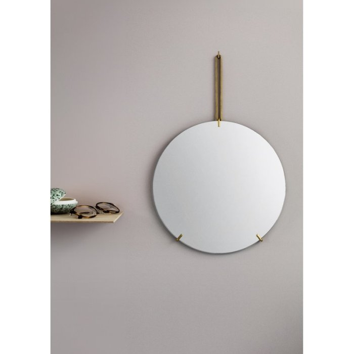 Moebe wall mirror brass 30cm