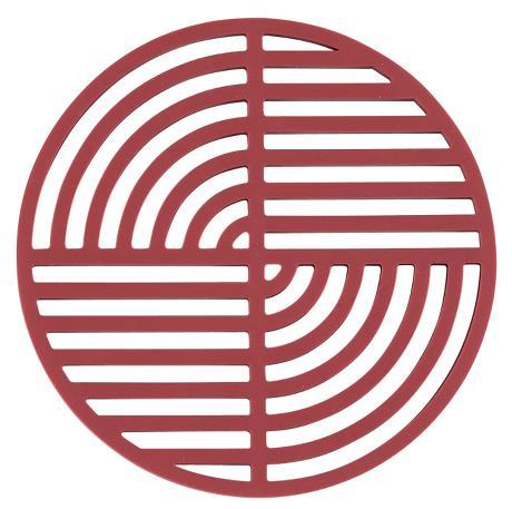 Trivet brick red circle
