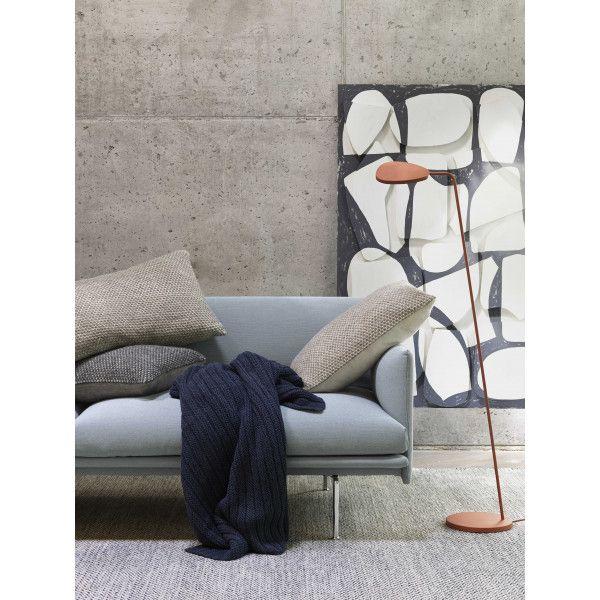 Twine cushion 80x50 beige-grey