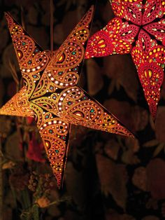 Kerstster lamp diwali amber
