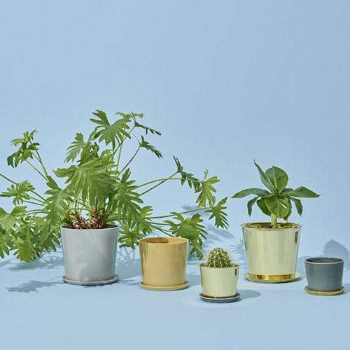HAY Botanical Pot L Light grey