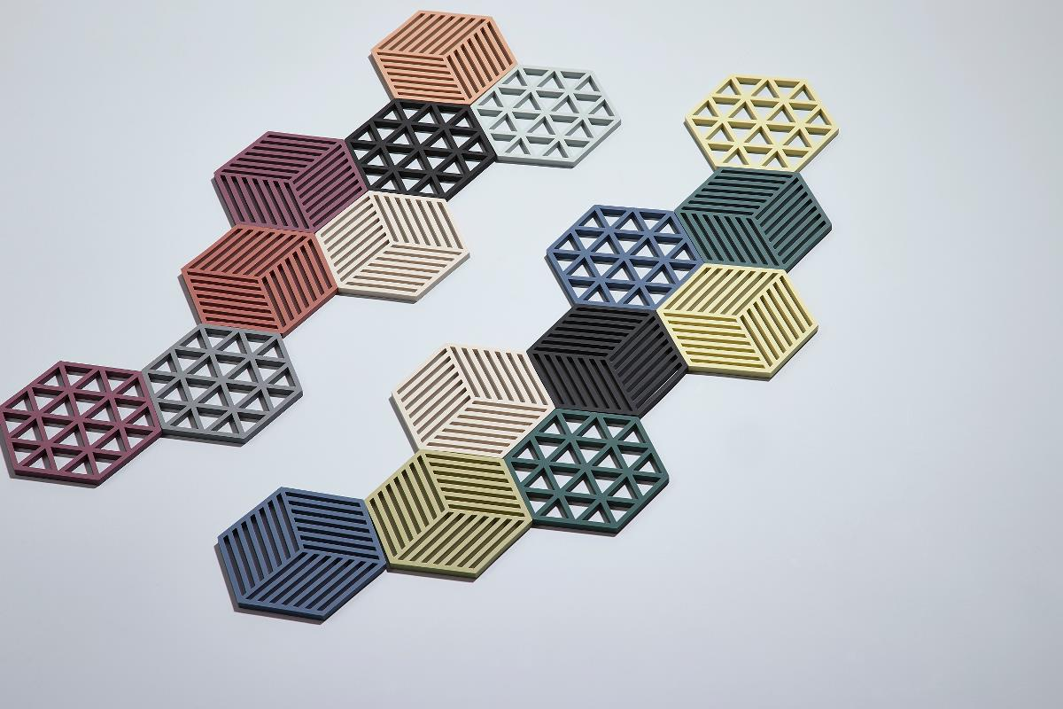 Trivet denim hexagon