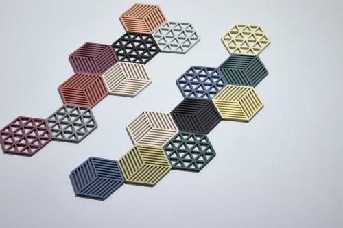 Trivet denim hexagon