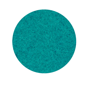 Onderzetter 16cm turquoise 14