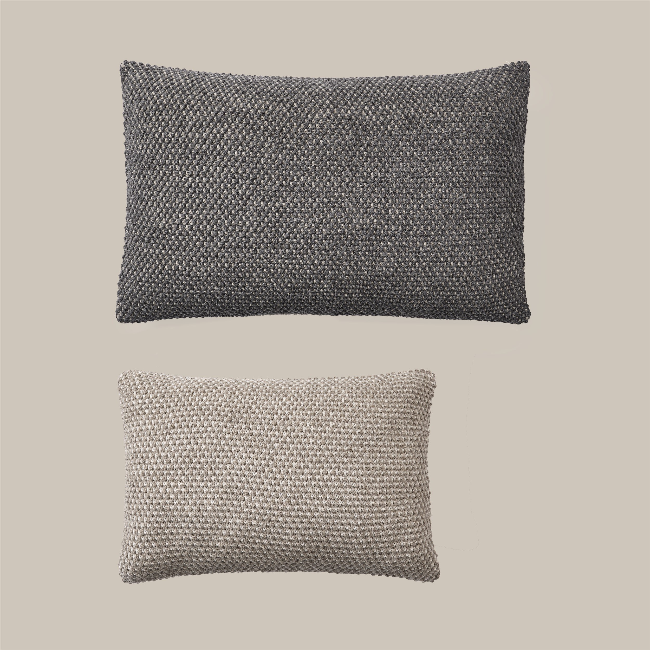 Twine cushion 80x50 dark grey