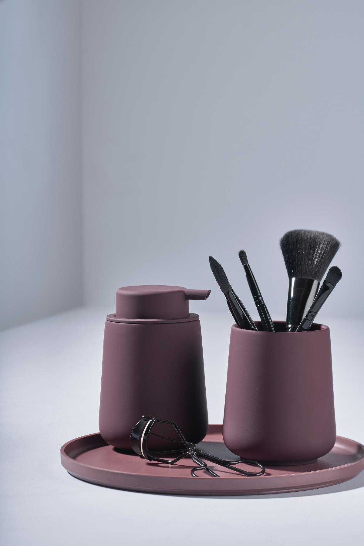 Toothbrush mug velvet purple nova one