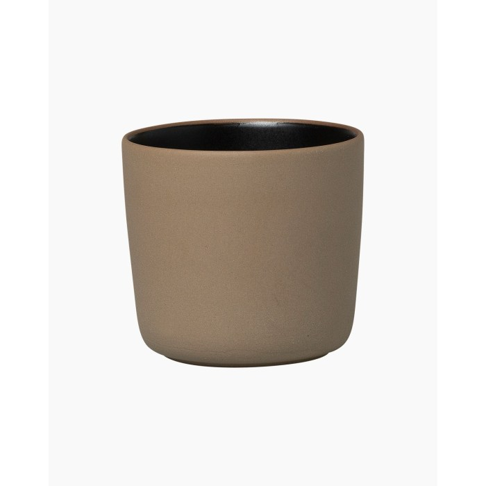 Marimekko Oiva Coffee Mug 2dl wo handle Terra Black