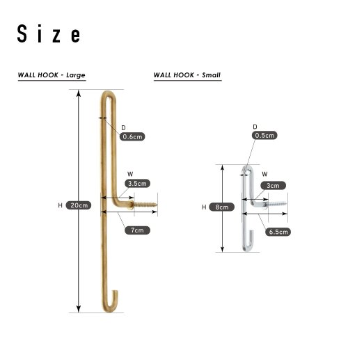 Moebe wall hook large brass
