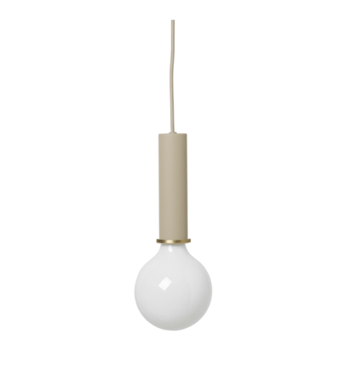 Socket Pendant - High - Cashmere