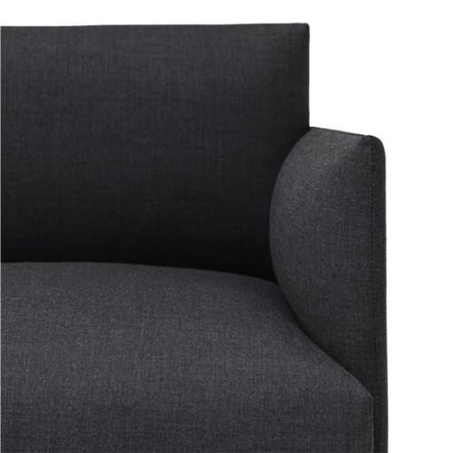 Muuto Outline Sofa 3 seater Remix 163 - Black Base