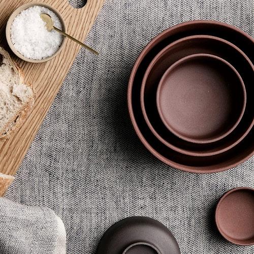 Ferm Living Sekki Bowls Rust (set of 3)