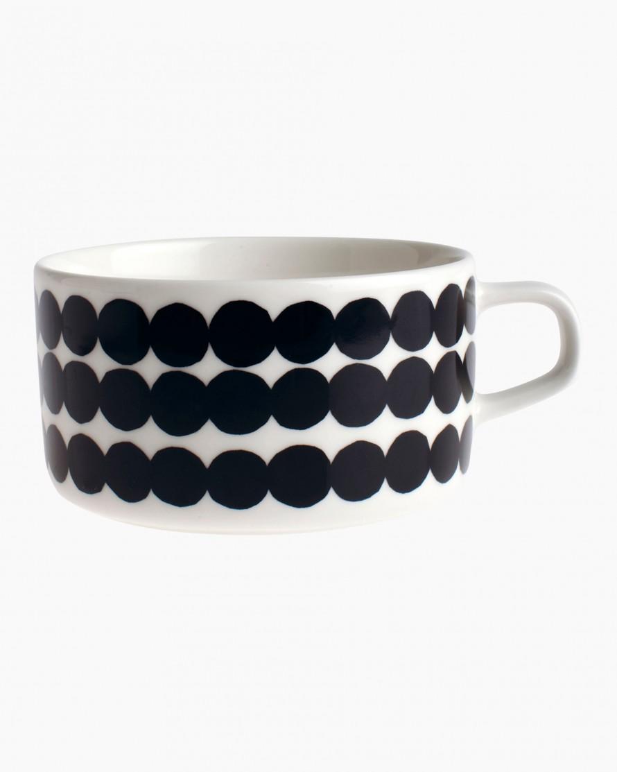 Marimekko SiirtolapuutarhaTeacup Black/White