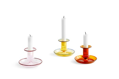 Hay Flare Candle Holder Pink