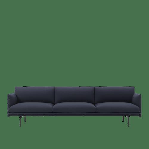 Muuto Outline Sofa 2 seater vidar 554 - Black Base