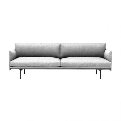 Muuto Outline Sofa 3 seater Vancouver 14 - Black Base