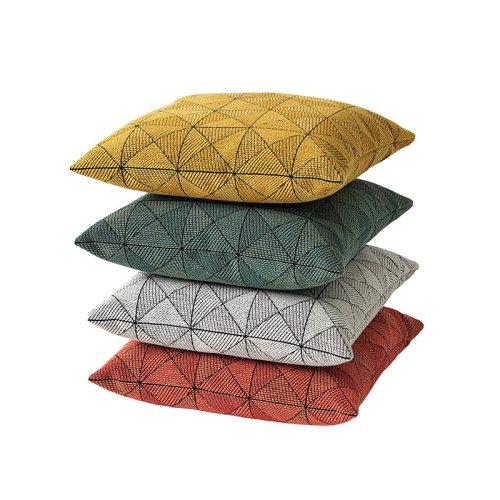 Tile cushion black/white 50x50 cm