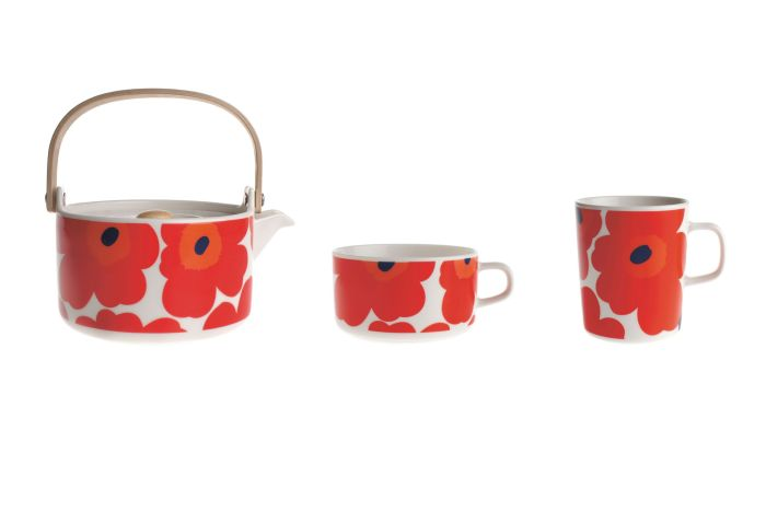 Marimekko Teapot Unikko Red