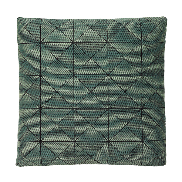 Tile cushion green 50 x 50 cm