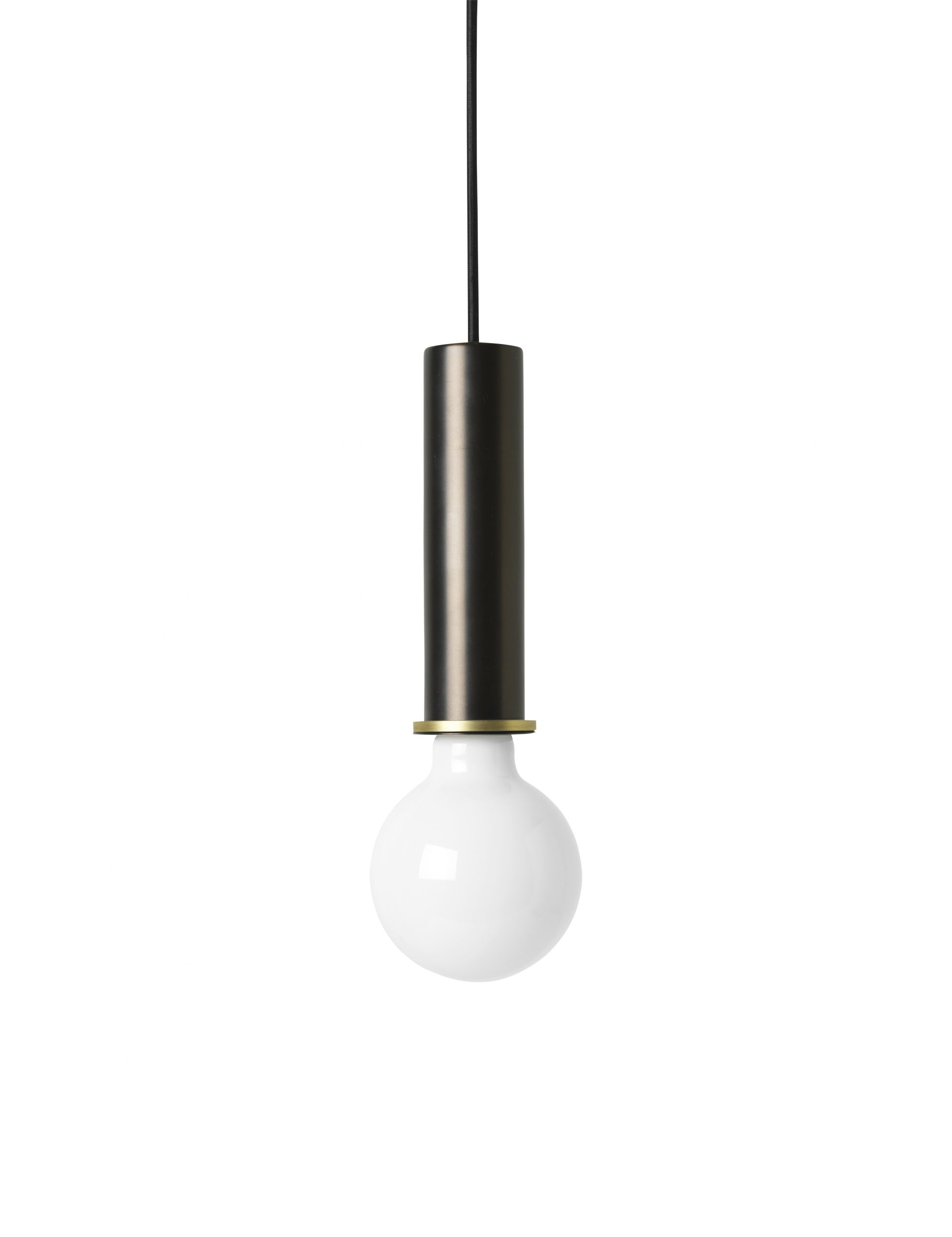 Socket Pendant - High - Black Brass