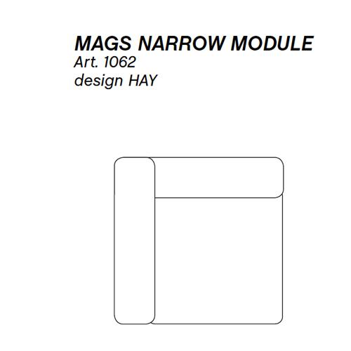 HAY bank Mags Narrow Module 1062