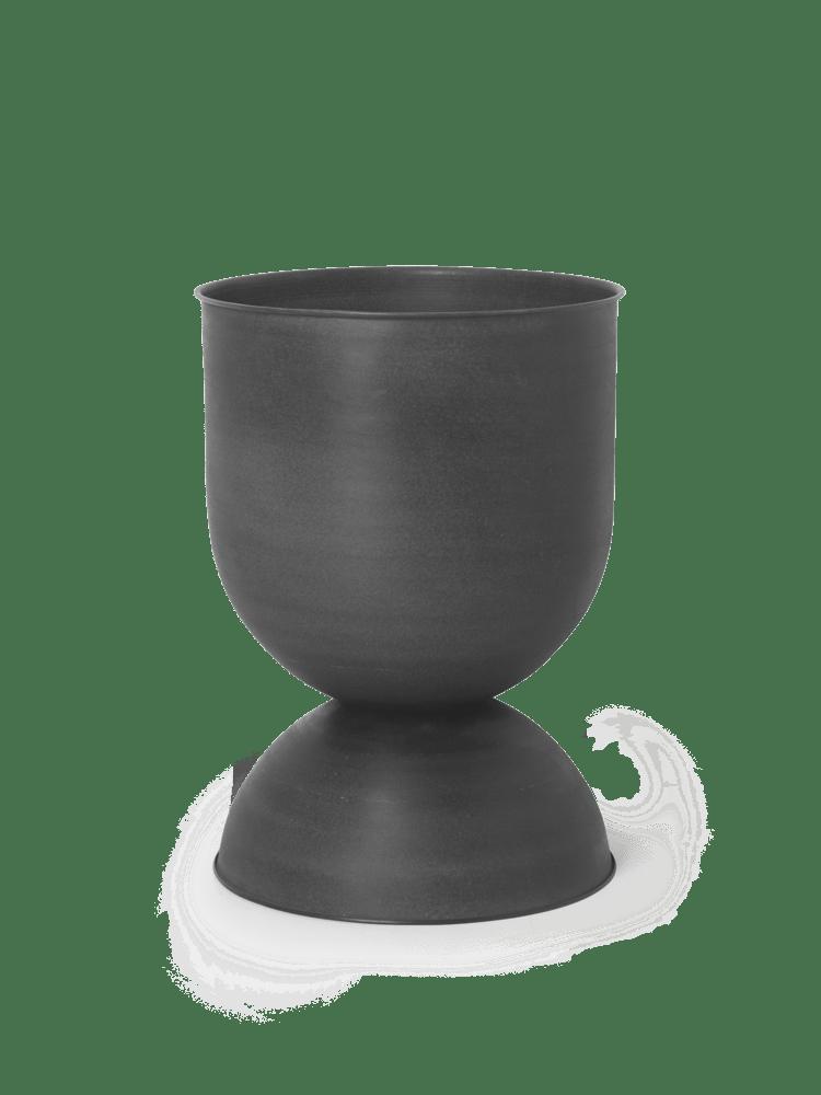 Hourglass pot medium black