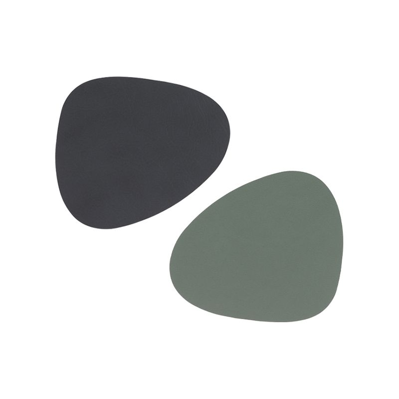 Coaster curve nupo double anthracite/ pastelgreen