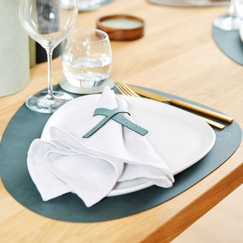Placemat curve nupo dark green