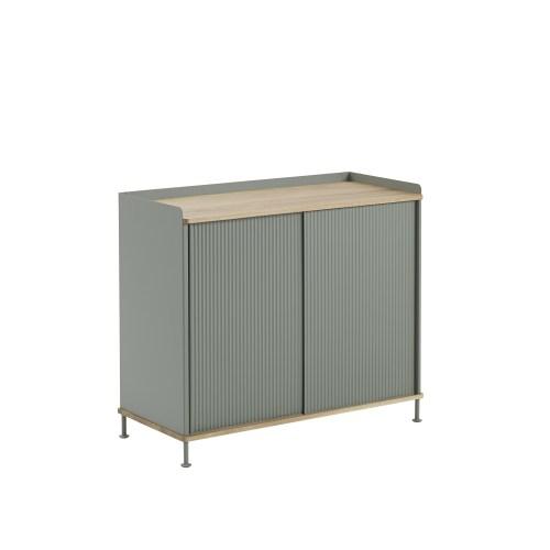 Muuto Enfold Sideboard Tall Oak/Dusty Green