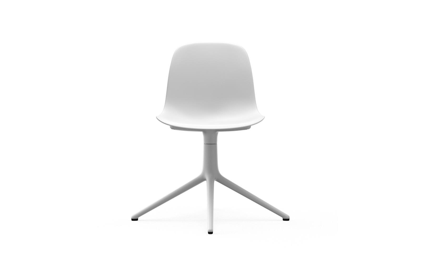 Normann CPH Form Chair Swivel 4L White Aluminium