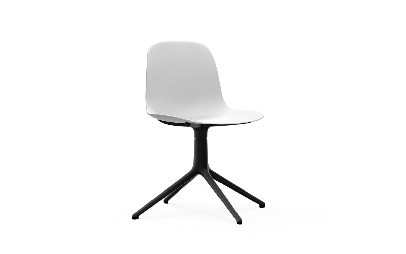 Normann CPH Form Chair Swifel 4L Black Alu gestoffeerd