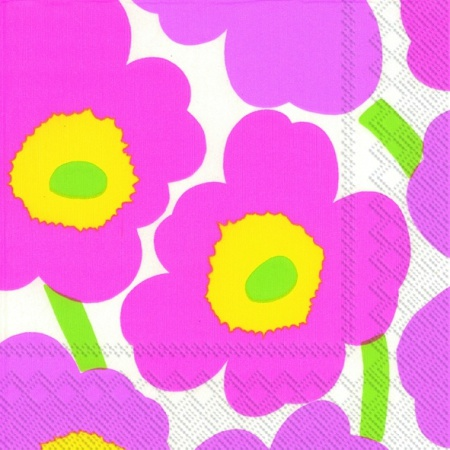 Unikko light pink lunch napkin
