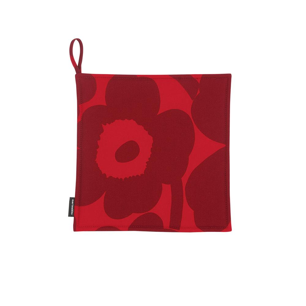 Pieni Unikko pot holder red/dark red