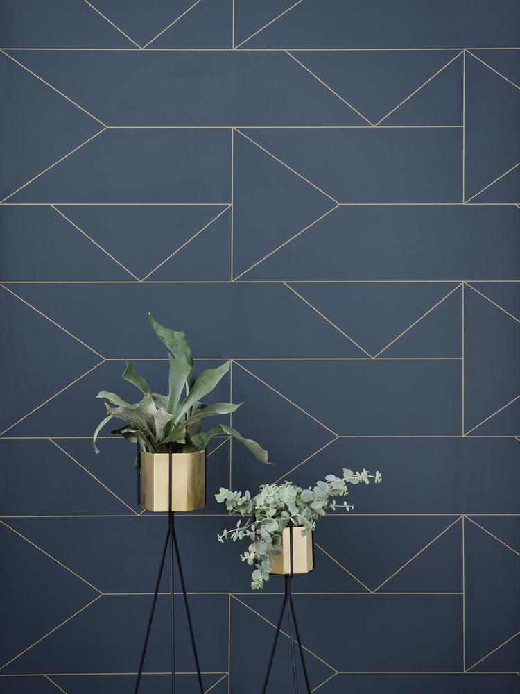 Ferm Living Behang Lines Wallpaper Off-white