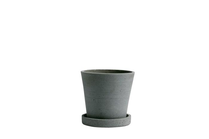 Flowerpot with saucer S green