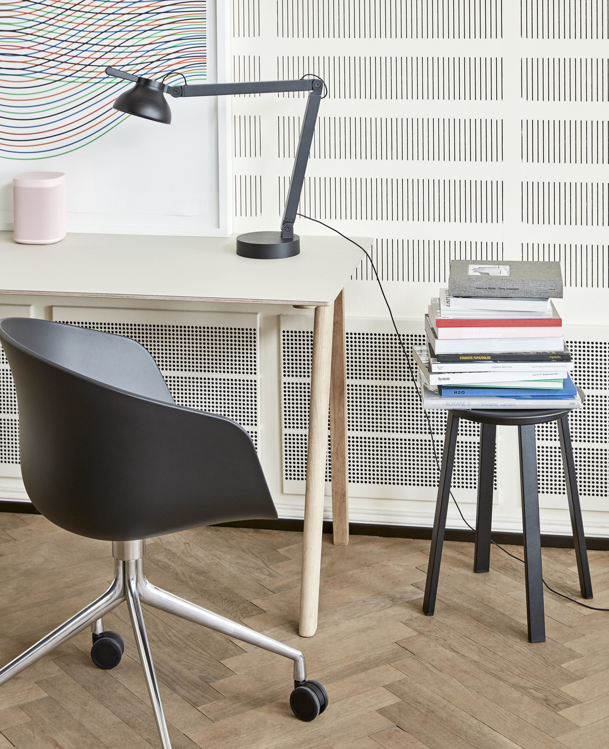 Hay CPH 90 Desk White Laminate Clear Lacquered
