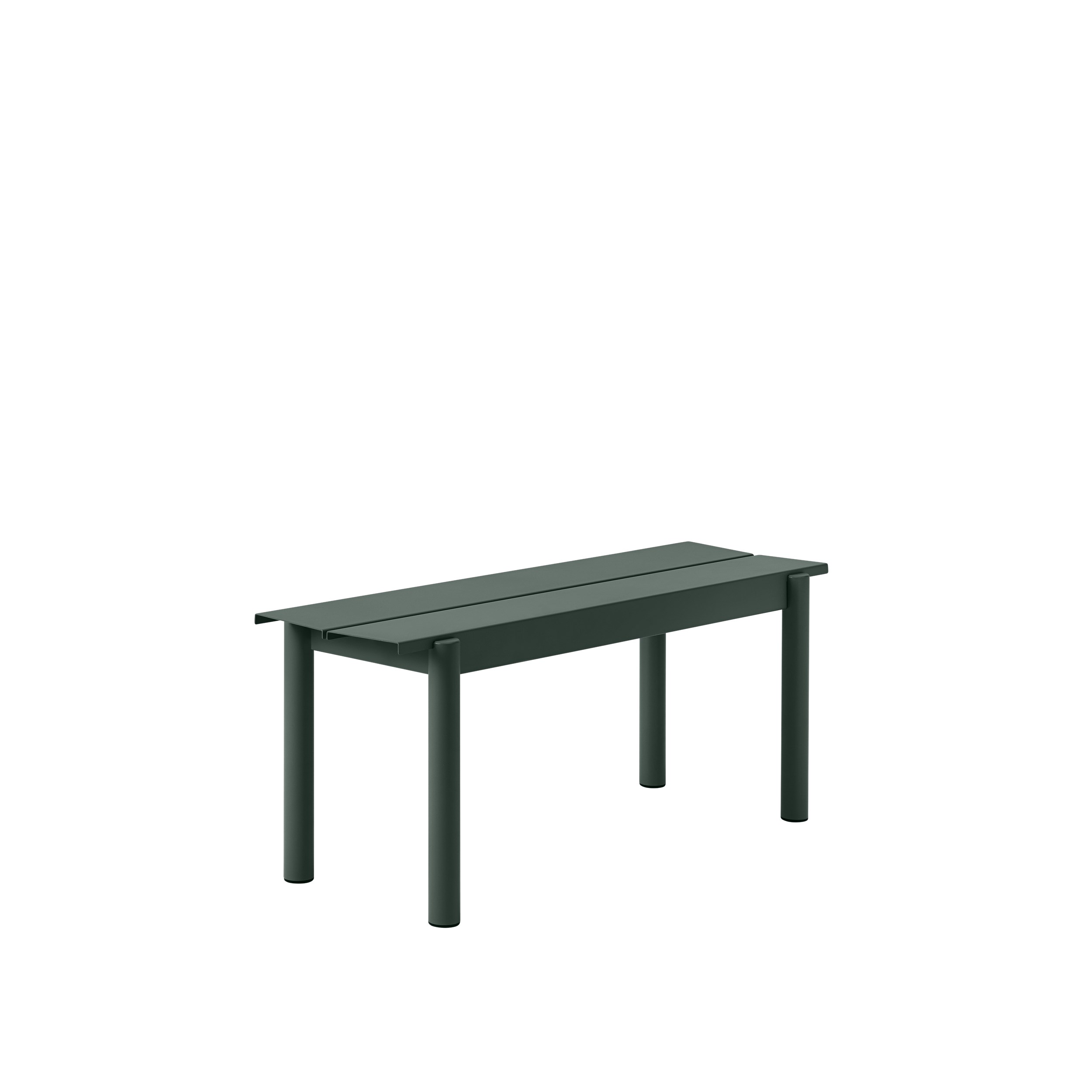 Muuto Linear Steel Bench 110 Dark Green