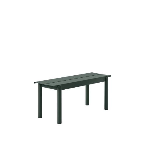 Muuto Linear Steel Bench 110 Dark Green