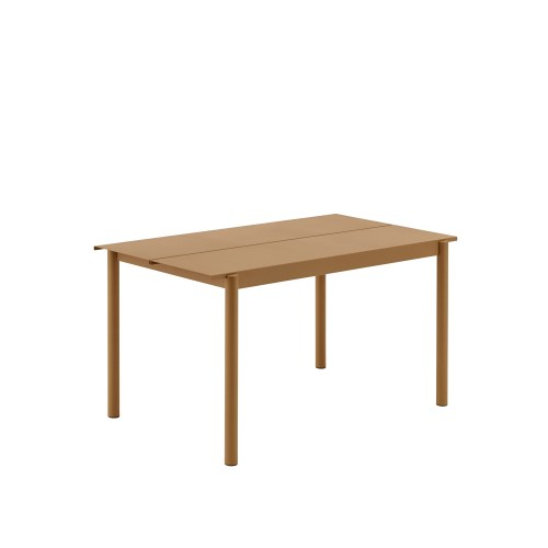 Muuto Linear Steel Table 140 Burnt Orange