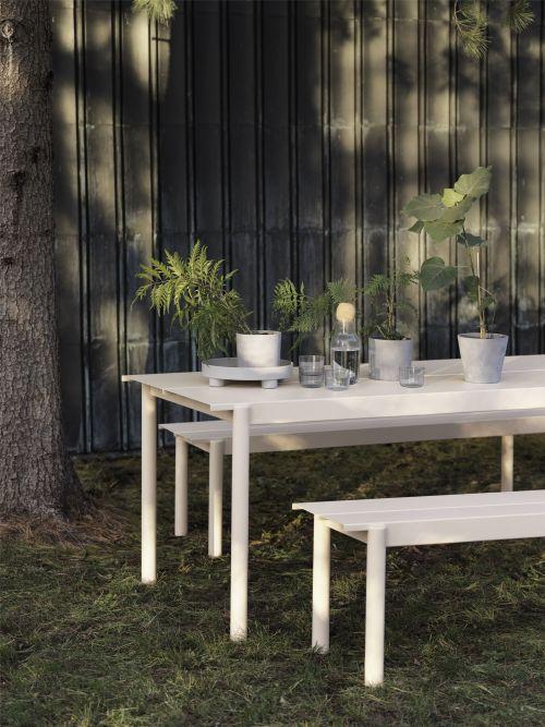 Muuto Linear Steel Table 200 Off-white